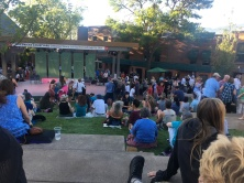 Random performances on the lawn before we go into the theater.